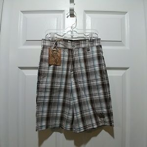 NWT Micros Plaid Shorts Sz 7